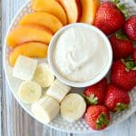 Rich and creamy fruit dip recipe