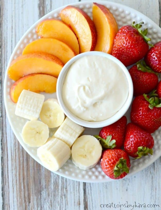 Rich and creamy fruit dip recipe