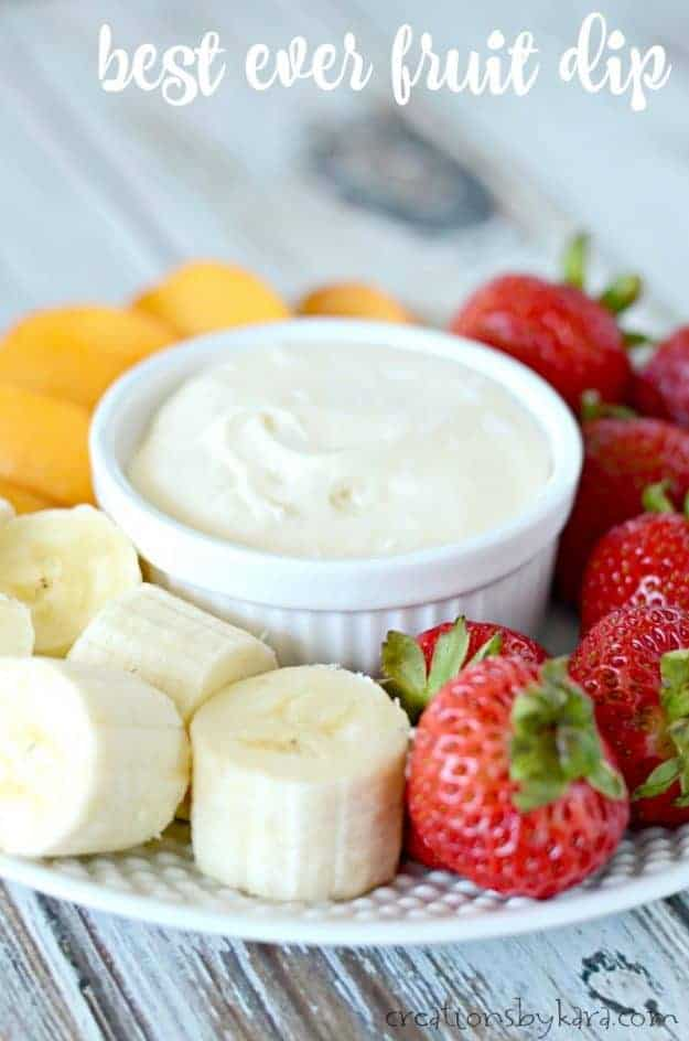 Best ever fruit dip - this dip has incredible flavor. Perfect with almost any fruit!