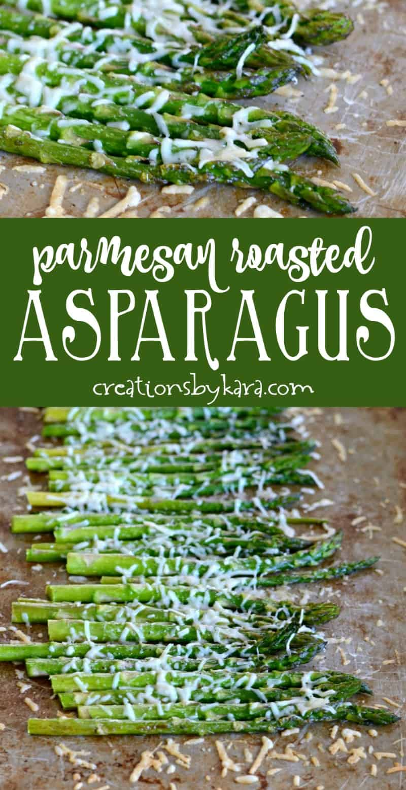 Parmesan Roasted Asparagus - this is the tastiest way to eat asparagus! Even my kids love this asparagus recipe.  | #asparagus #roastedasparagus