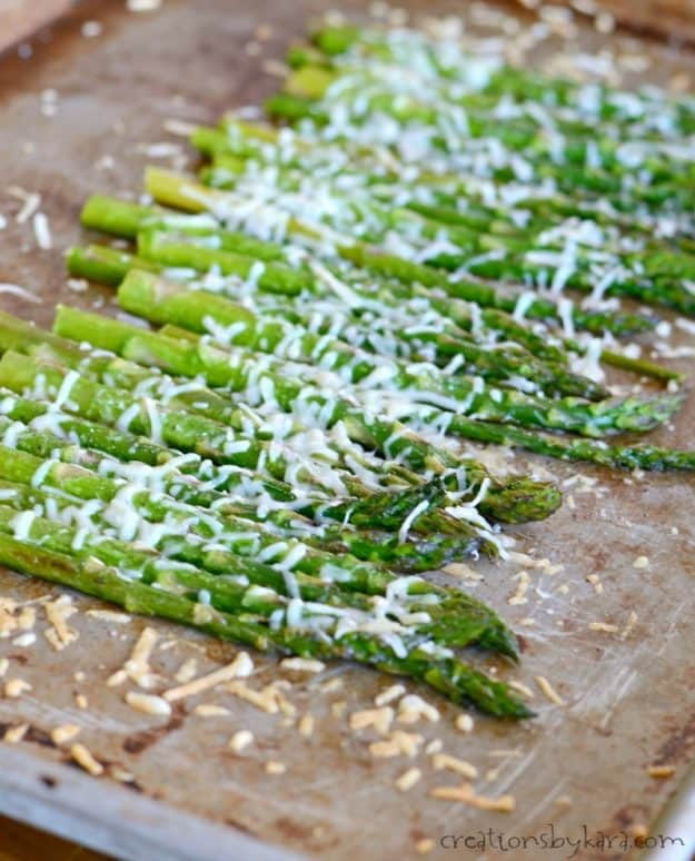 simple roasted parmesan asparagus recipe