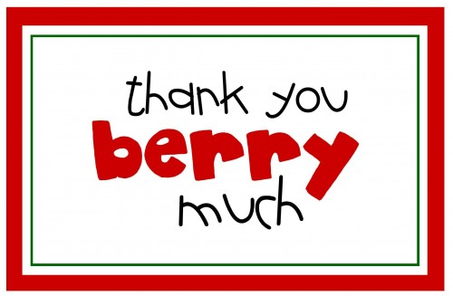 Free Printable- Thank You Berry Much