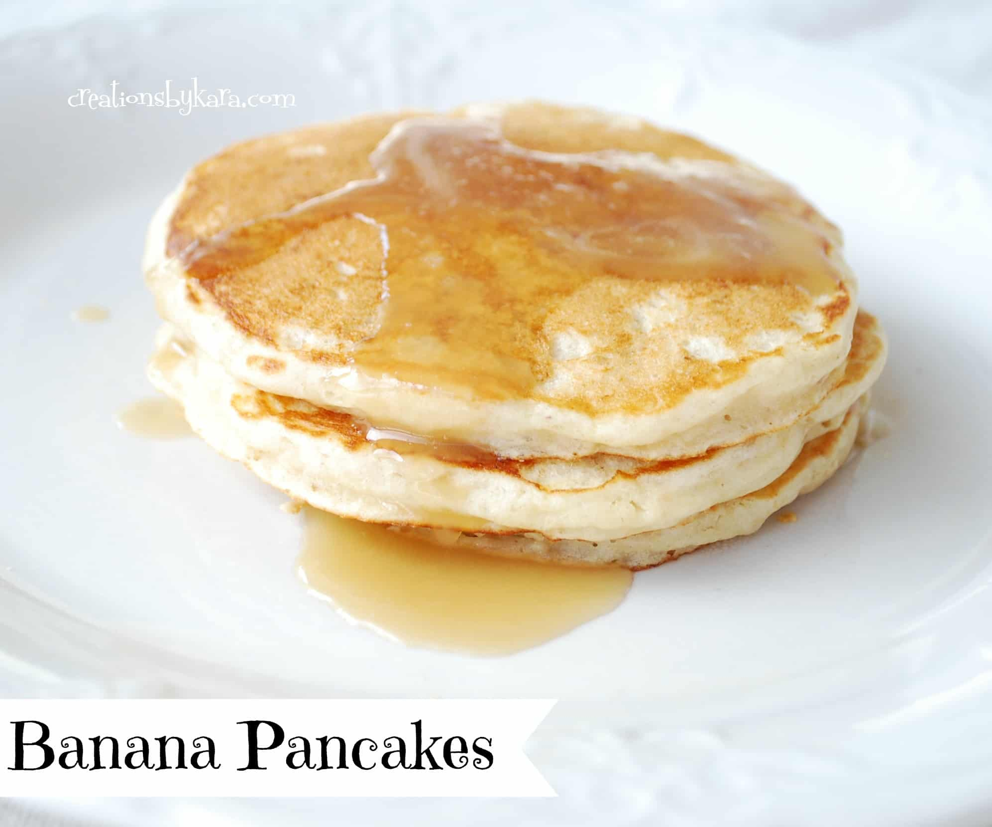 Banana - Pecan Pancakes Recipe — Dishmaps
