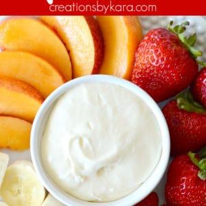 fruit dip recipe pinterest pin