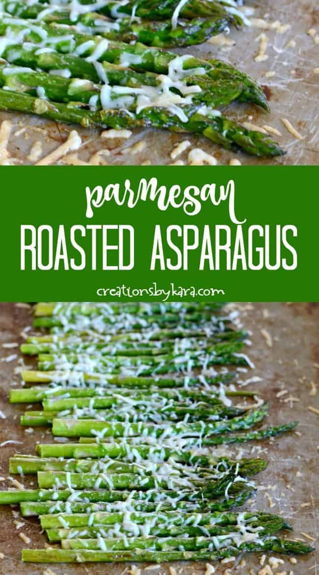 parmesan roasted asparagus recipe collage