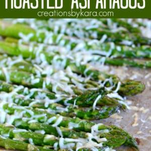 roasted easy parmesan roasted asparagus Pinterest Pin