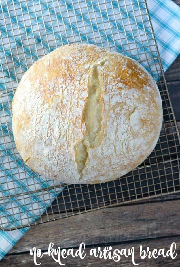 overhead shot of artisan bread