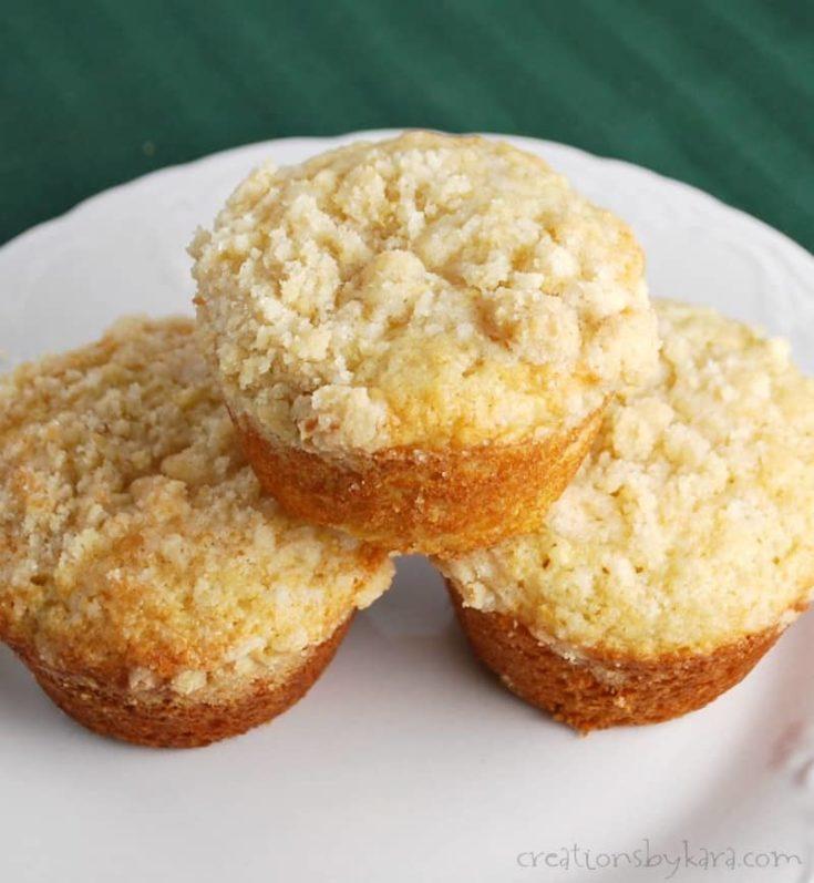 apple lemon muffins