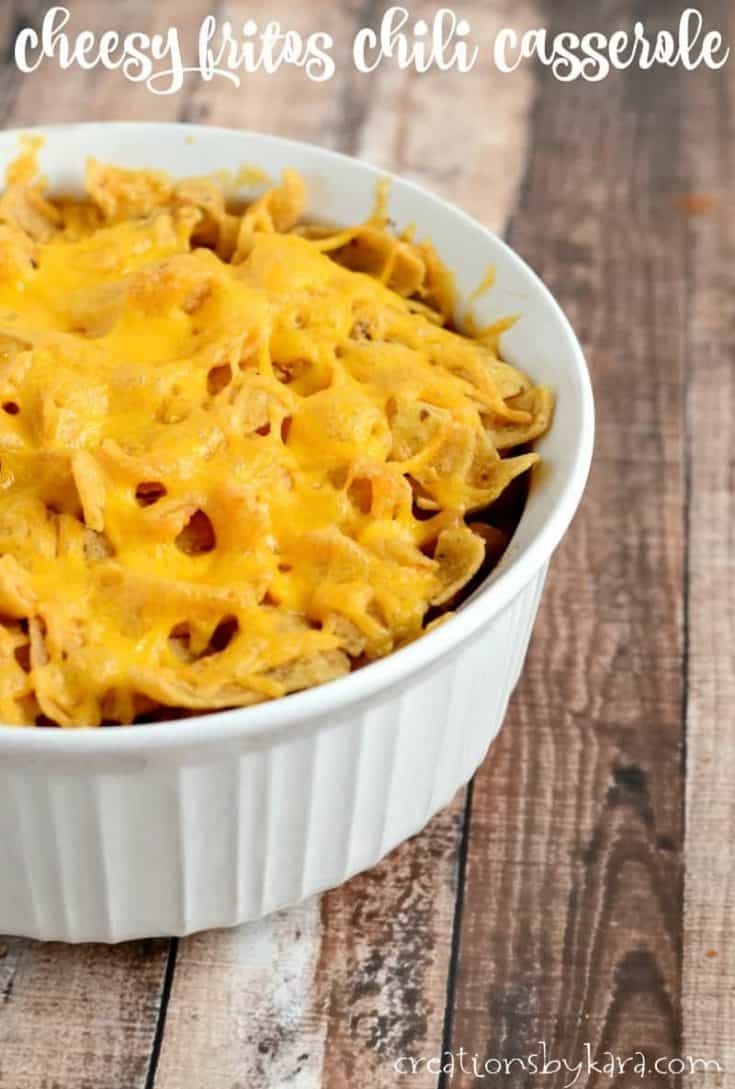 Fritos Chili Casserole is a main dish the whole family will love!