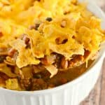 Cheesy Fritos Chili Casserole - a perfect weeknight dinner recipe.