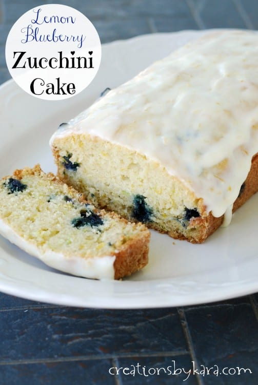 Blueberry Zucchini Cake No Frosting