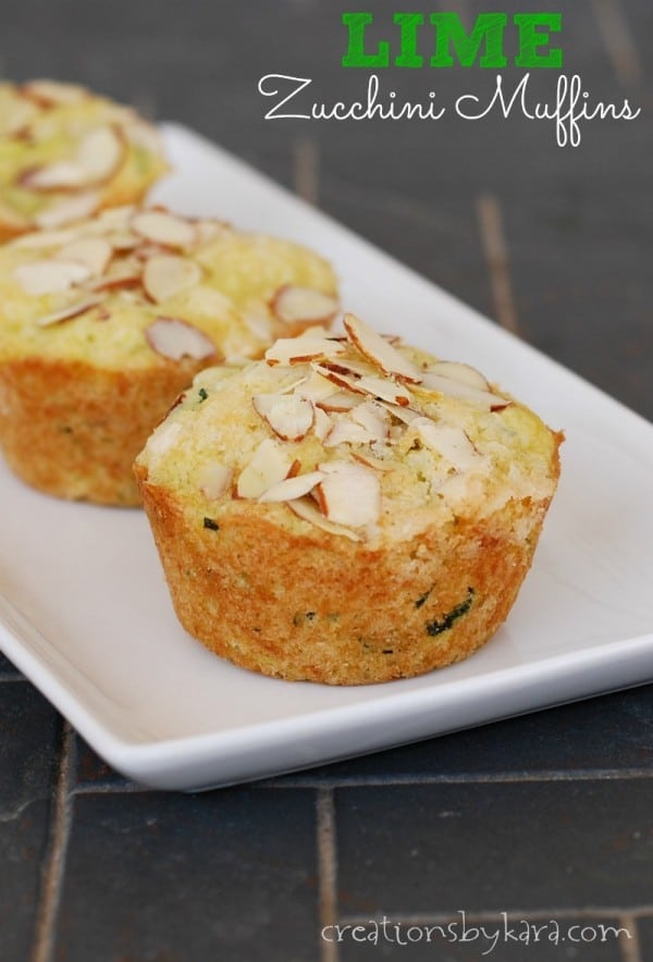 Zucchini Muffins with a Hint of Lime