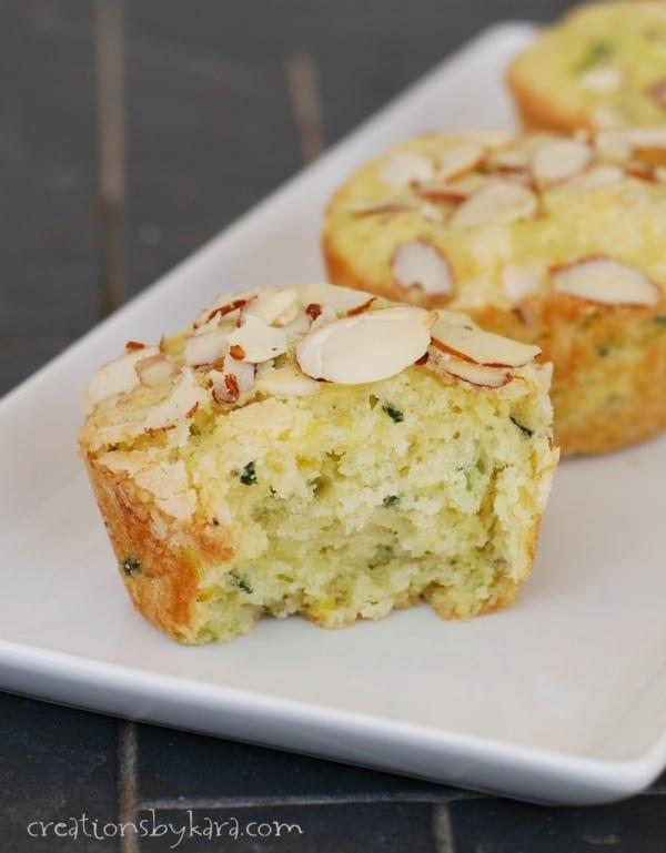 Lemon Lime Zucchini Muffins