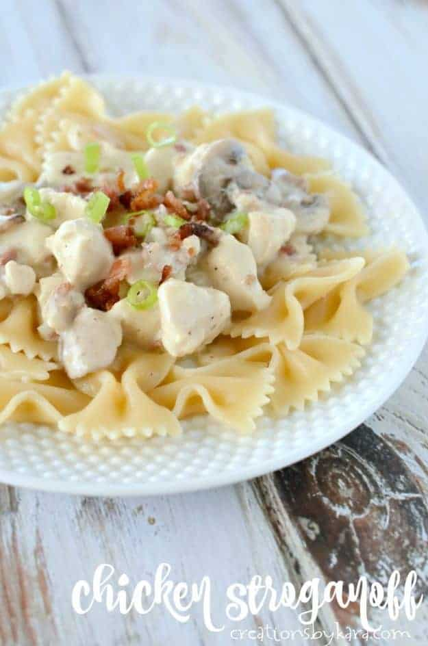 Chicken Stroganoff - a delicious variation from traditional stroganoff. A perfect chicken recipe for busy nights.