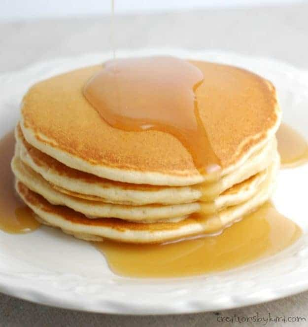 Diner Style Pancakes. A secret ingredient makes these pancakes extra tasty!