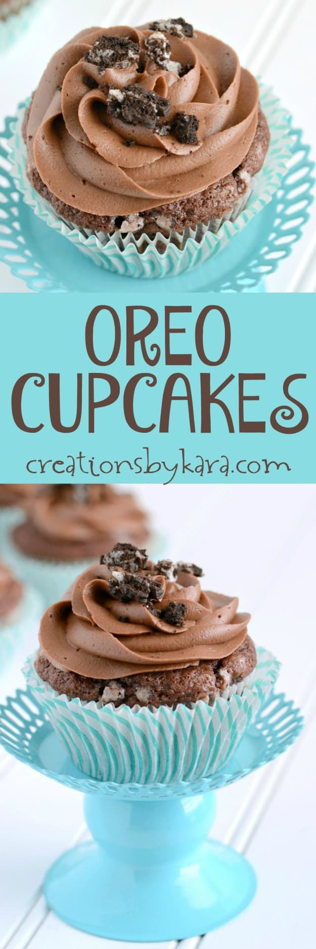 Moist and delicious Oreo Cupcakes with a killer Chocolate Frosting. Absolutely fantastic!