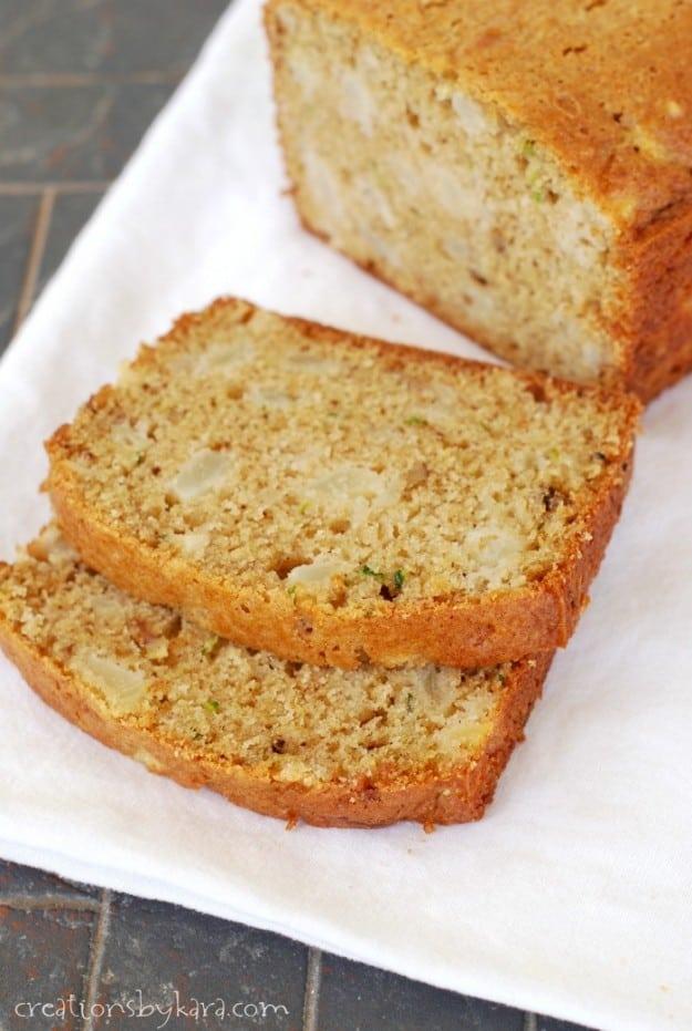 Pear Zucchini Bread