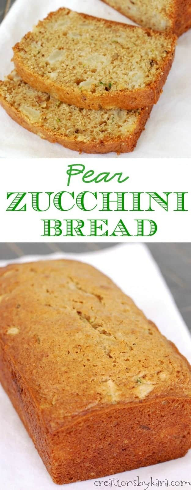 Recipe for zucchini bread with chunks of juicy pear in every bite.