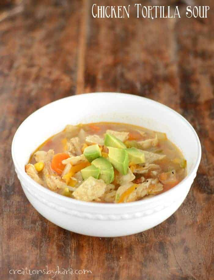 Hearty and delicious Chicken Tortilla Soup