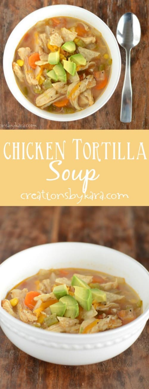 Save money and make your own Chicken Tortilla Soup from scratch. Just as good as a bowl of soup from a fancy restaurant!