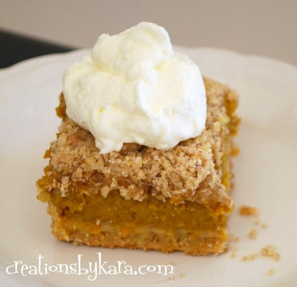 Pumpkin Pie With Cake Mix Crust