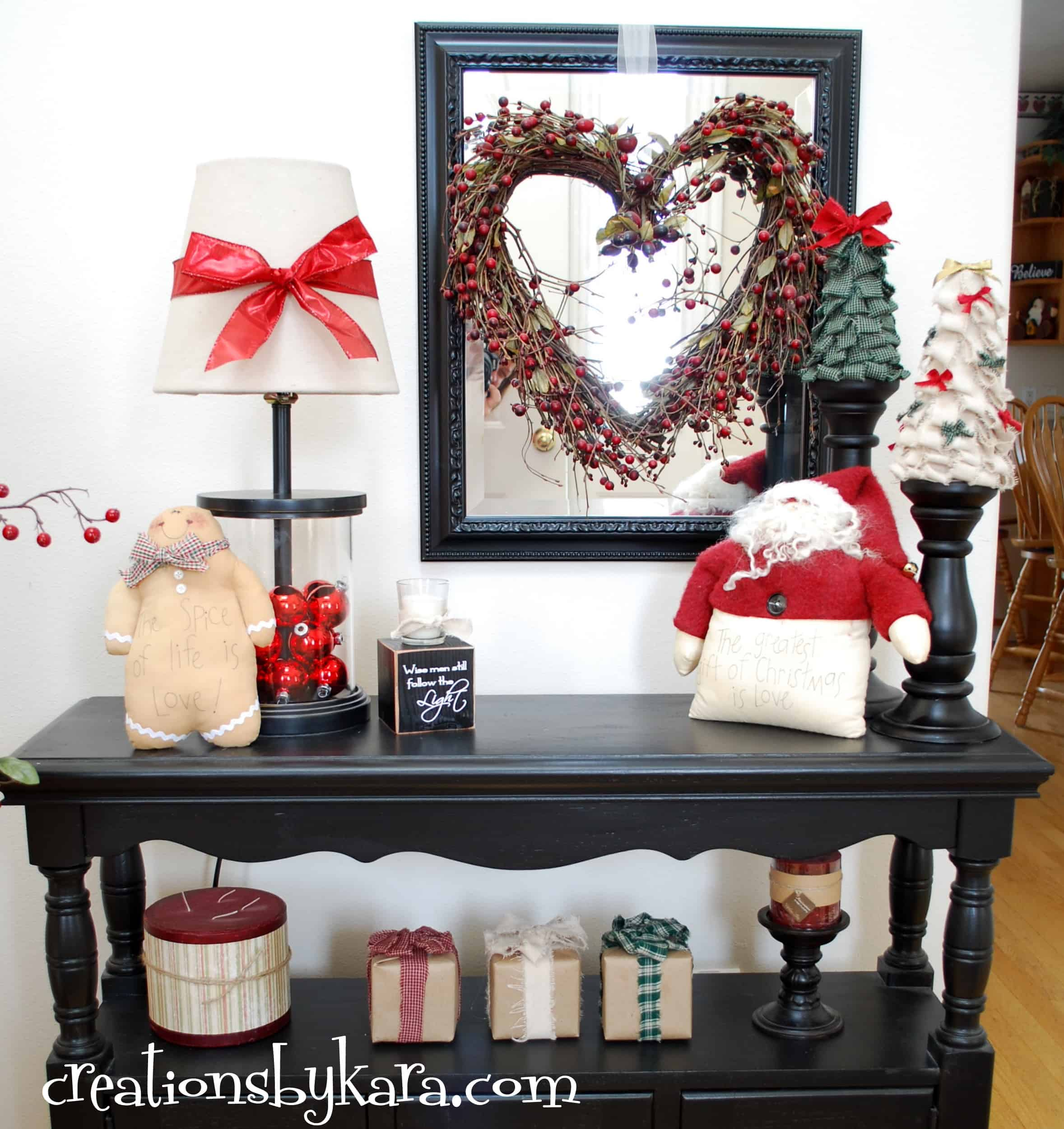 Diy Christmas Decorating Entry Table