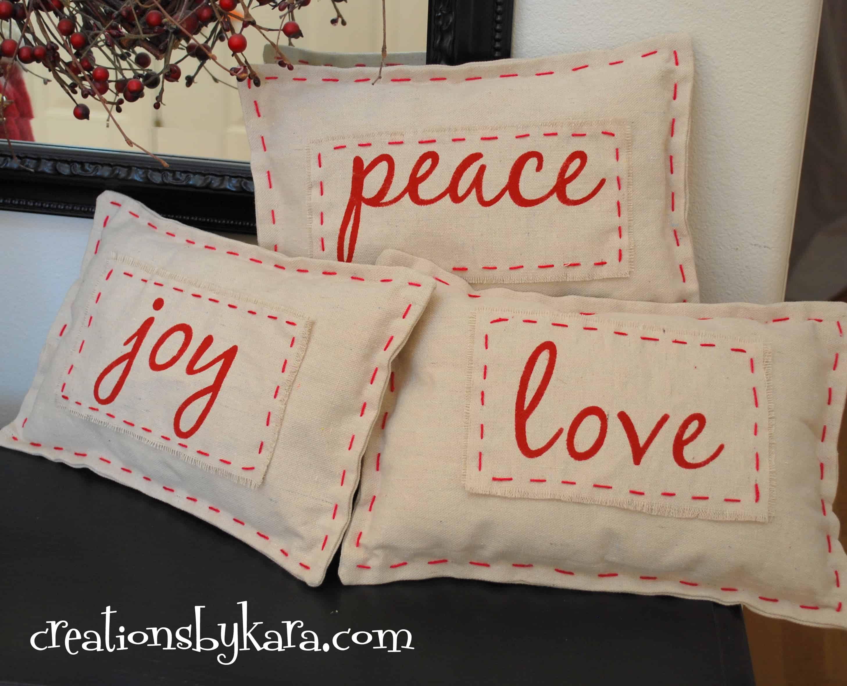 Pottery Barn Christmas Pillow Knock Off