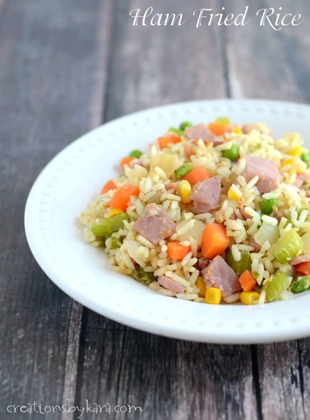 This Ham Fried Rice is quick, easy, and even tastier than take-out!