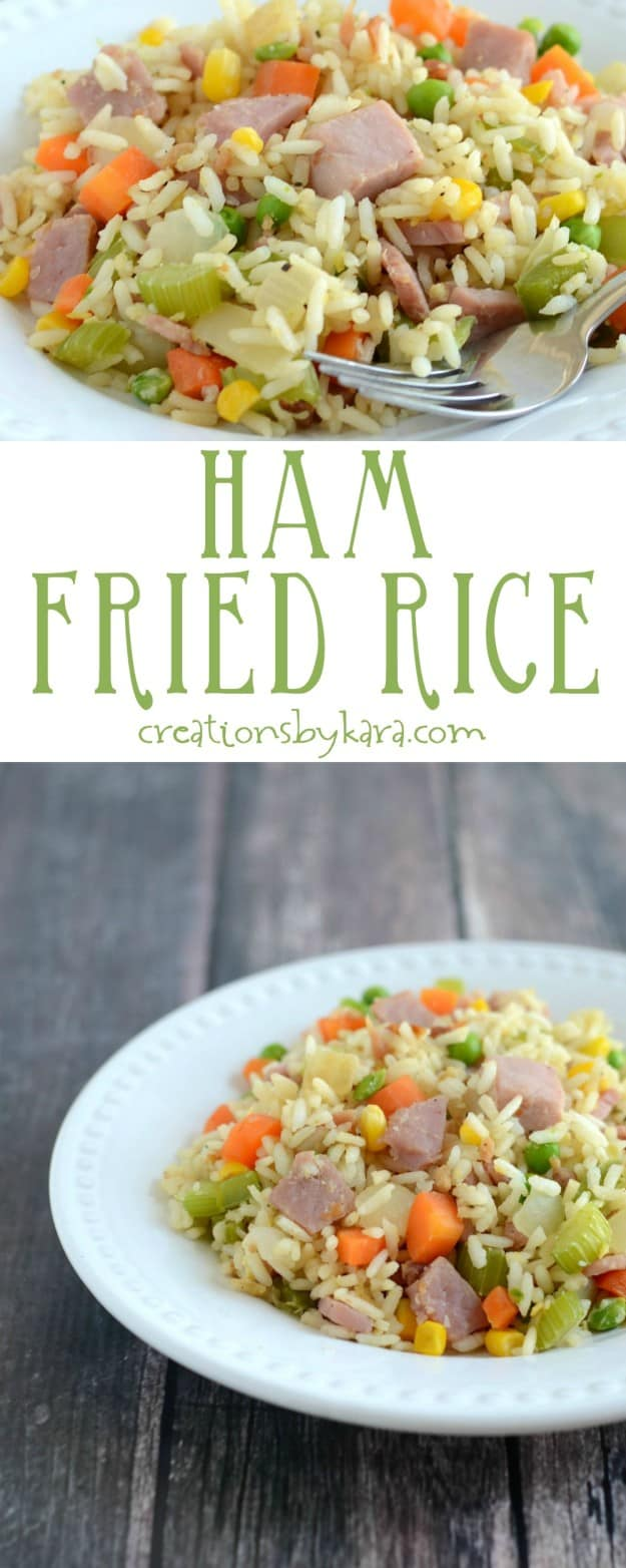 Make your own Ham Fried Rice at home. It's easy, delicious, and cheaper than take-out!