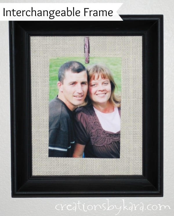 diy-interchangeable-picture-frame