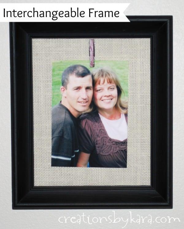 Decorating Idea-- Clothes Pin Burlap Frames
