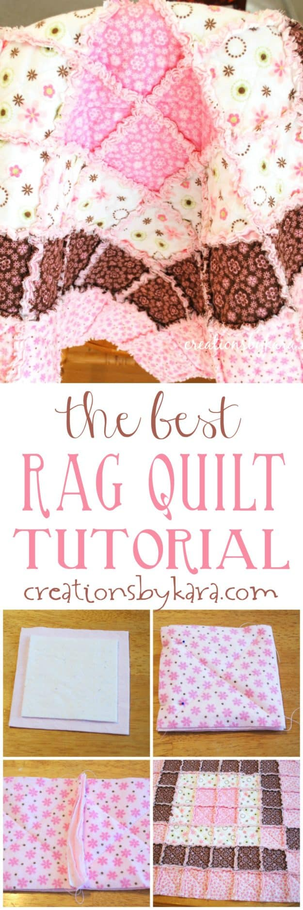 the best rag quilt tutorial photo collage