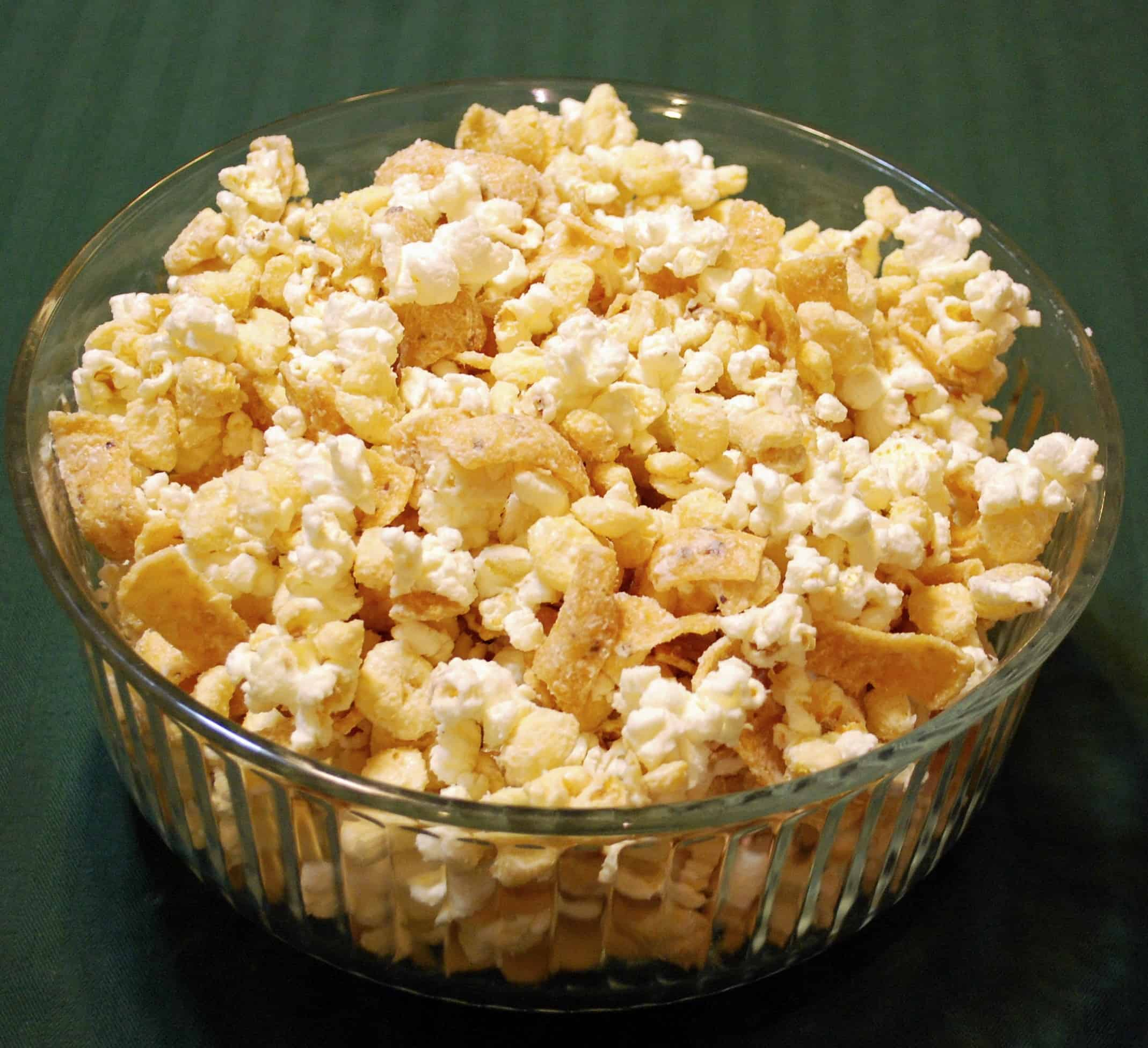Frosty's Frito Snack Mix (white chocolate, Fritos, Kix and popcorn ...
