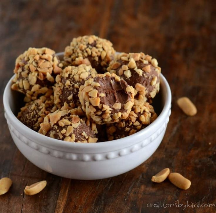 How to make delicious chocolate peanut butter truffles with just four ingredients.