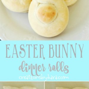 easter bunny dinner rolls recipe collage