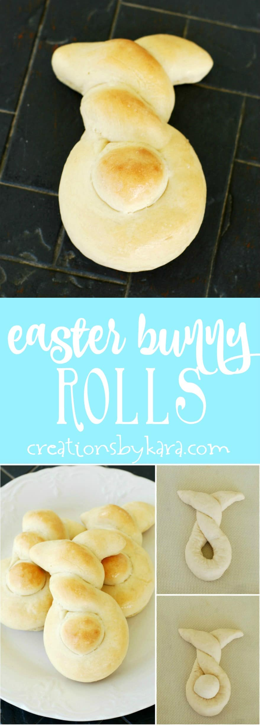 Make Easter dinner more fun with these cute Easter Bunny Rolls. They are perfect for Easter brunch too!
