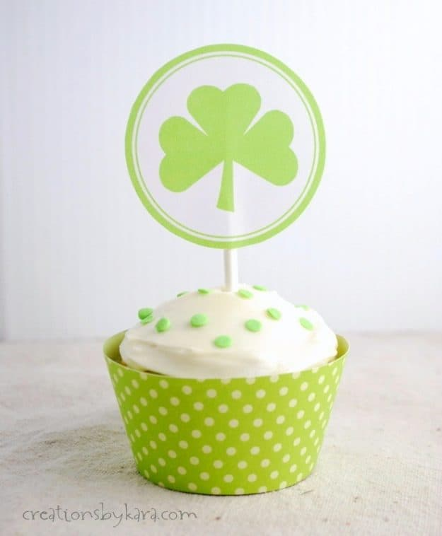 Recipe for St Patrick's Day Cupcakes with pistachio pudding