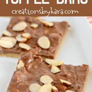 super easy toffee bars recipe photo