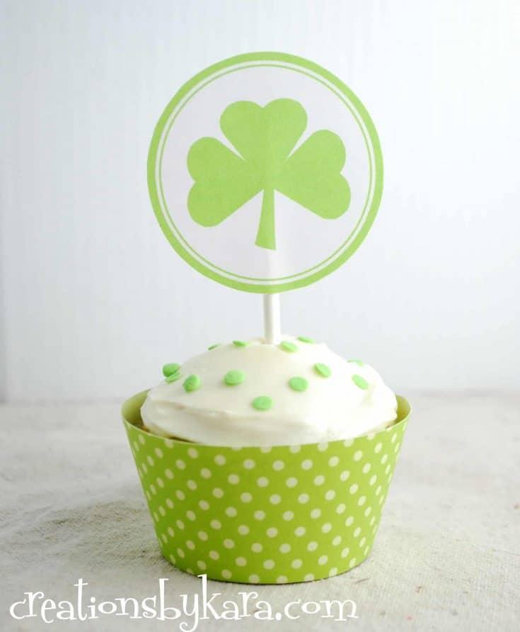 St. Patrick's Day Cupcakes . . . these tasty cupcakes have been a tradition at my house since I was a little girl. Pistachio pudding gives them great flavor as well as a fun green color.