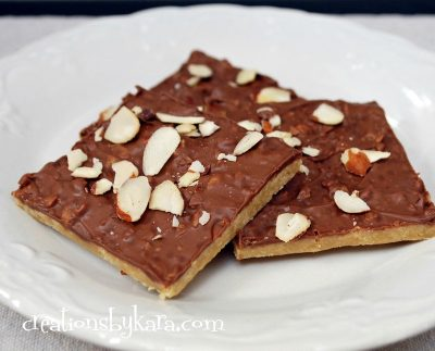 quick and easy toffee bars
