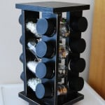 Home organization–Repurposing a Spice Rack