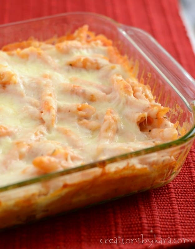 This Cheesy Pasta dish is perfect for crazy weeknight dinners.