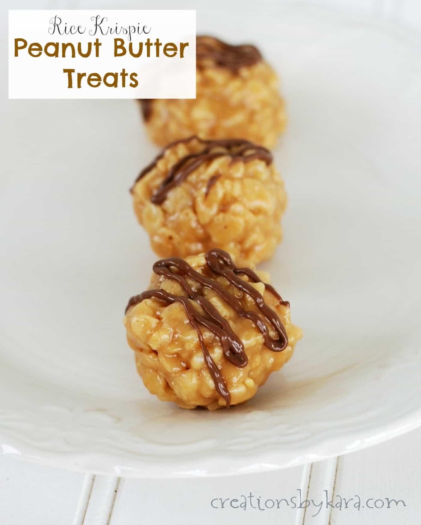 Easy Candy Recipe-- Rice Krispy Peanut Butter Treats