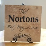 Wedding gift idea–vinyl lettering family tile