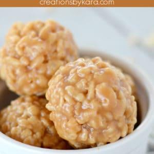 peanut butter rice krispies balls pinterest pin