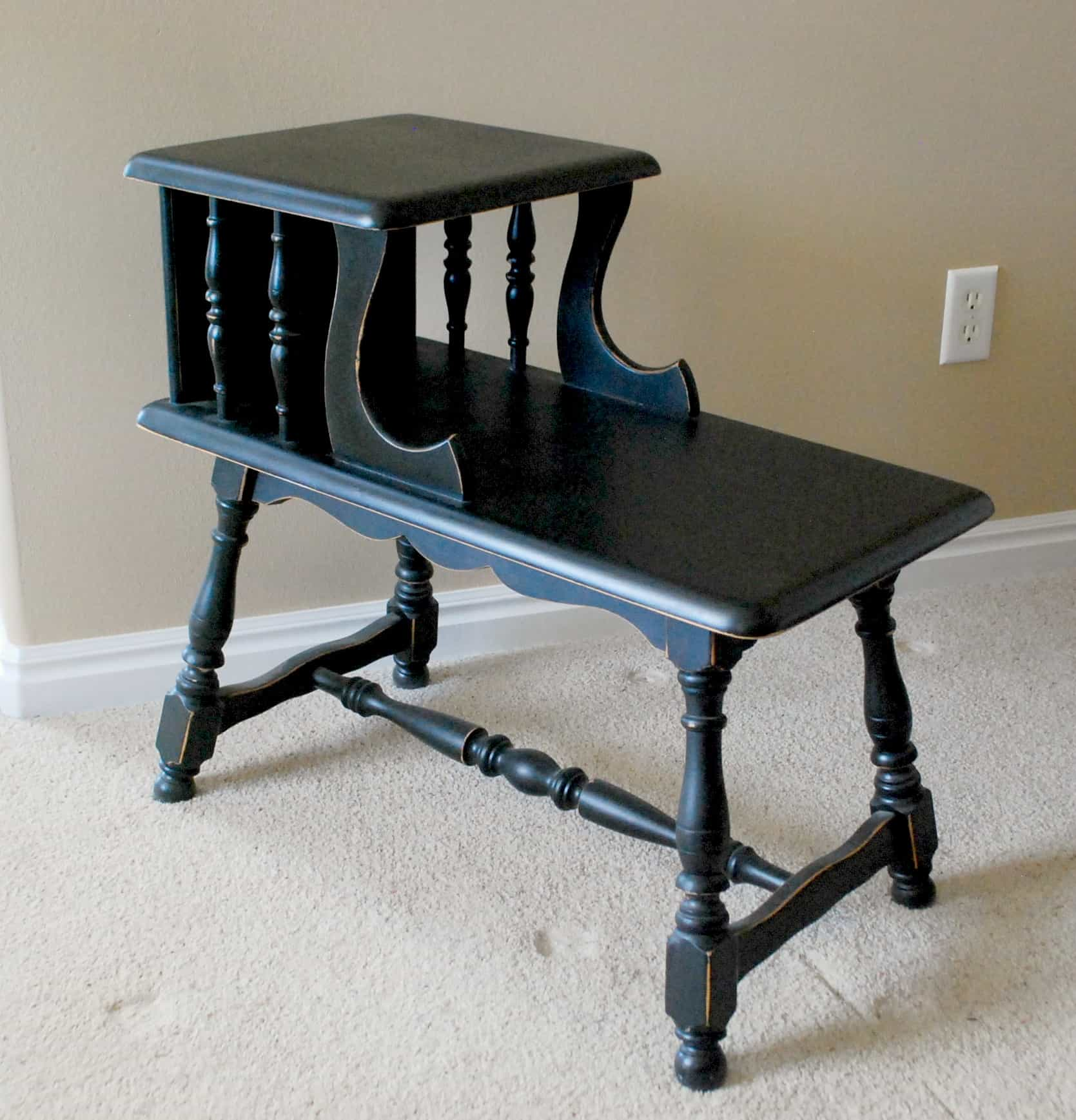 diy furniture refinishing spray paint style. Black Bedroom Furniture Sets. Home Design Ideas