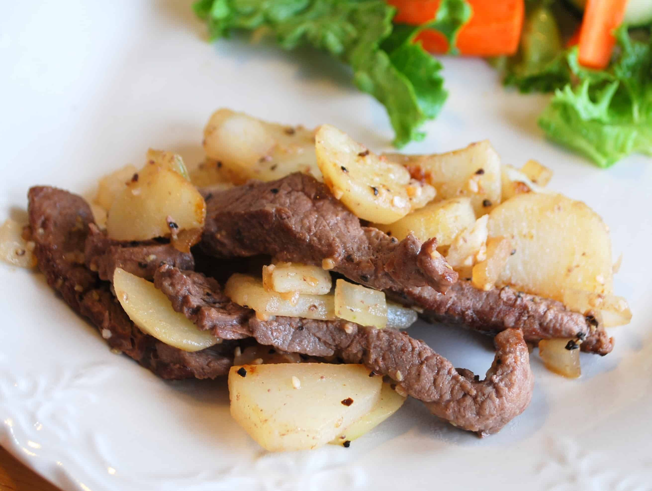 steak potato skillet recipe - Creations by Kara