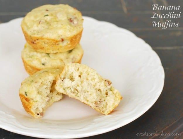 Banana Zucchini Muffins