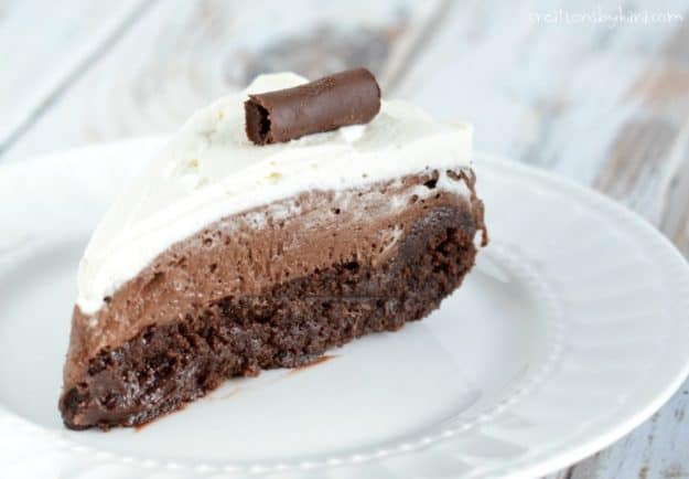 slice of chocolate mousse torte