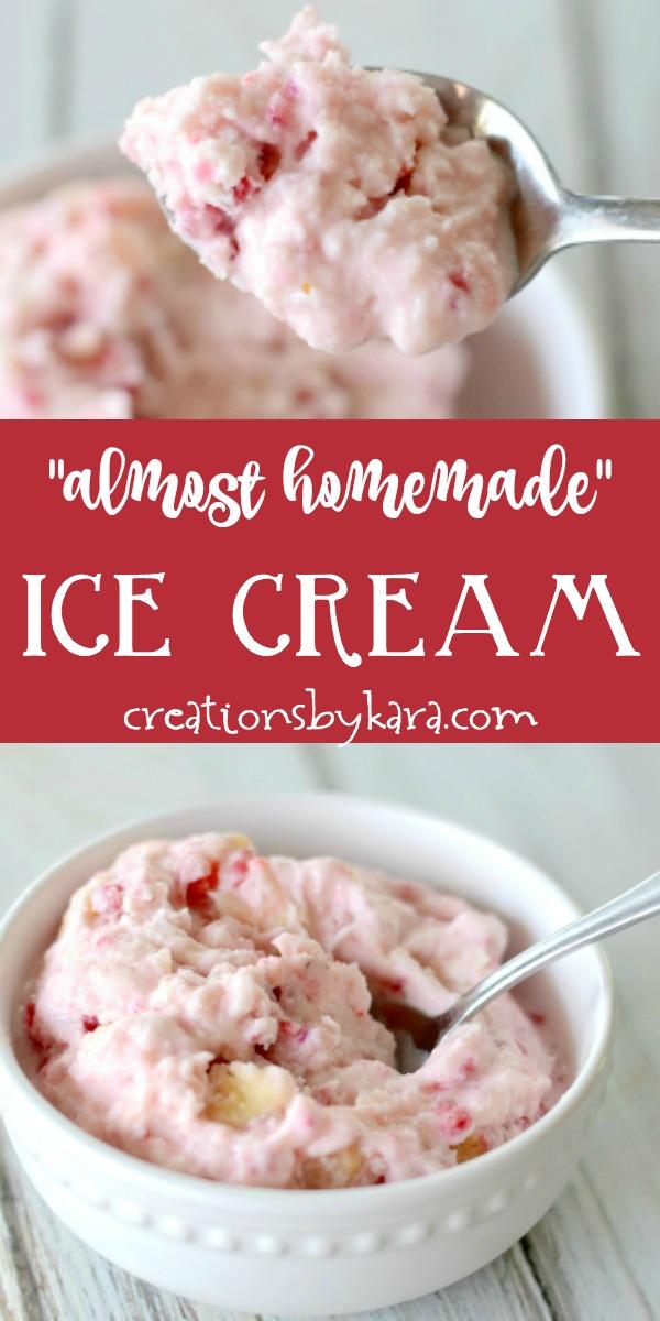 soft serve almost homemade ice cream recipe collage